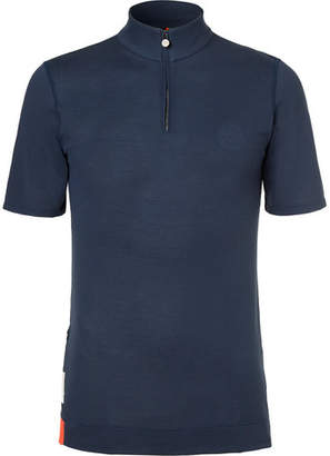 Iffley Road Sidmouth Panelled Drirelease Piqué Half-Zip T-Shirt
