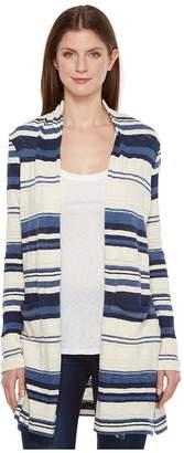 Splendid Stripe Caftan Cardigan Women's Sweater