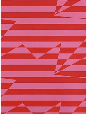 Kirkby Designs Stripey Zig Zag Birds Wallpaper