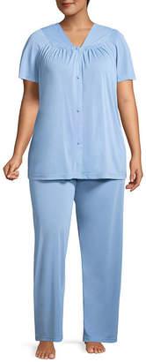 Asstd National Brand Lissome Polytricot Short Sleeve Pajama Set - Plus