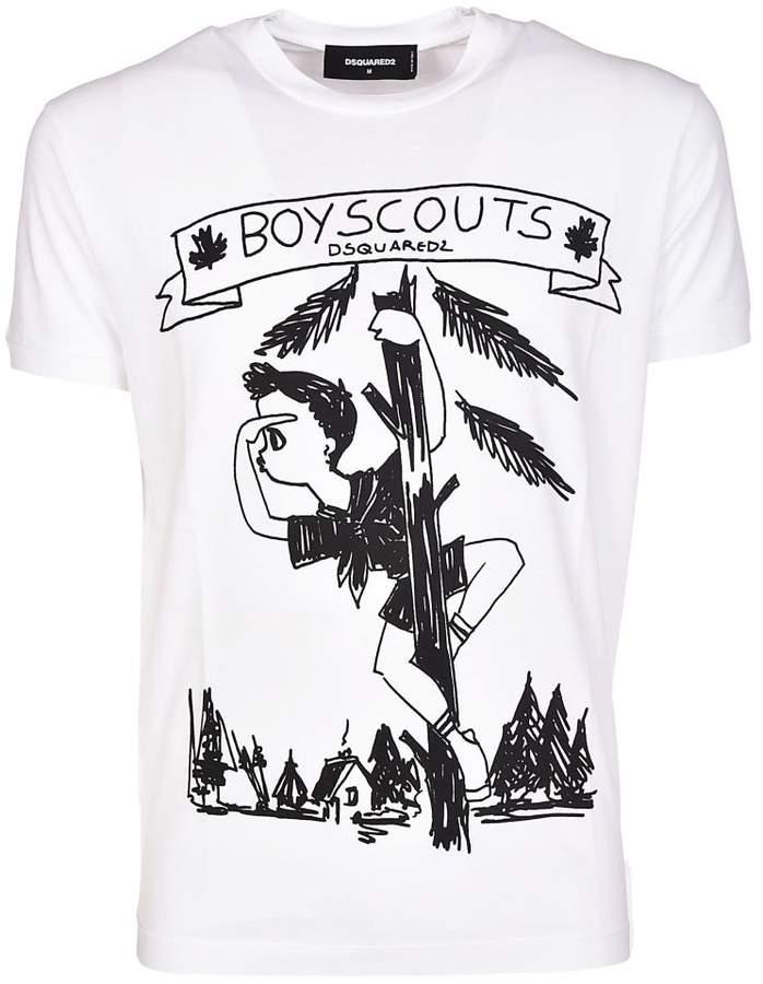 Boy Scouts Print T-shirt