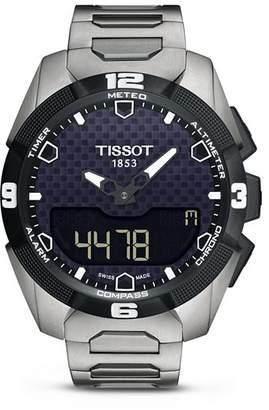 Tissot T-Touch Expert Solar Men's Titanium Bracelet Quartz Watch, 45mm