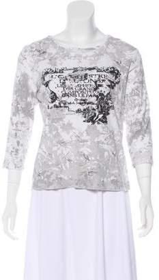 Nicole Miller Printed Long Sleeve T-Shirt