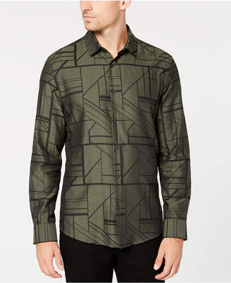 Alfani Men's Geometric Print Shirt
