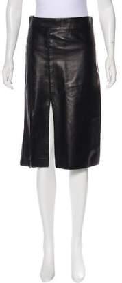 Nina Ricci 2017 Leather Skirt