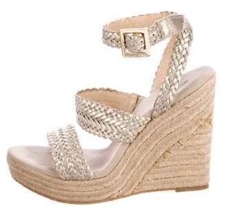 MICHAEL Michael Kors Metallic Espadrille Wedge Sandals
