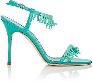 Manolo Blahnik Women's Cienzona Patent Leather Ankle-Strap Sandals