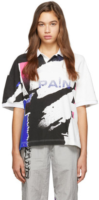 Alexander Wang Multicolor Printed Tennis Polo