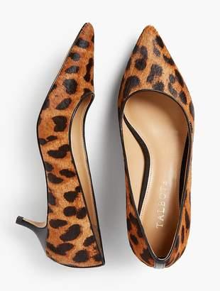Talbots Sylvie Kitten-Heel Pumps - Haircalf Leopard-Print