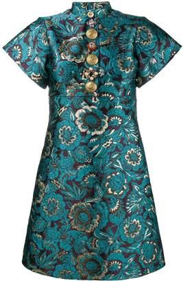 Dolce & Gabbana brocade floral print mini dress