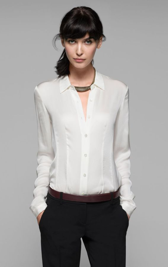 Theory Eva Silk Shirt