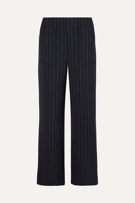 Ganni Hewitt Pinstriped Cady Straight-leg Pants