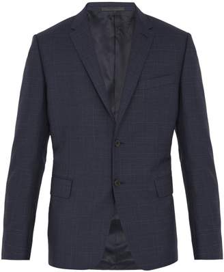Valentino Single-breasted checked wool blazer