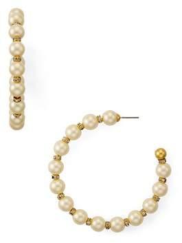 Kate Spade Simulated Pearl Large Hoop Earrings