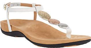 Vionic Orthotic T-strap Sandals w/ Ankle Strap- Lizbeth