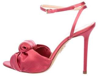 Charlotte Olympia Satin Ankle Strap Sandals