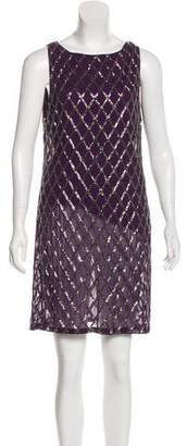 Alice + Olivia Sleeveless Beaded Dress