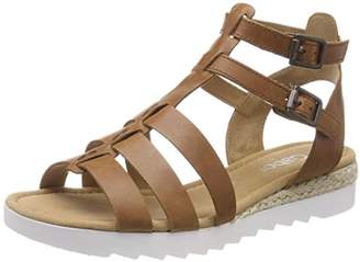 Gabor Women Comfort Sport Ankle Strap Sandals, Brown (Peanut Jute), 3 UK (35.5 EU)