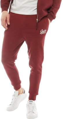 Jack and Jones Mens Anything Sweat Pants Cordovan/White