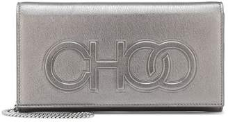 Jimmy Choo Santini metallic leather clutch