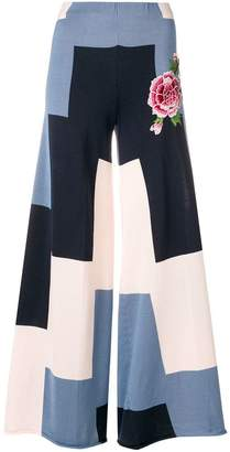 Circus Hotel panelled wide leg trousers