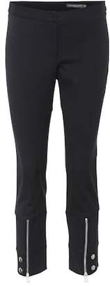 Alexander McQueen Cropped zip-cuff skinny trousers