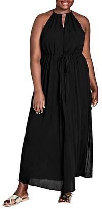 City Chic Plus Sleeveless Drawstring Maxi Dress