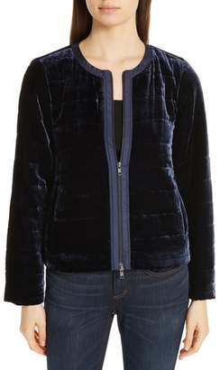 Eileen Fisher Quilted Velvet Jacket