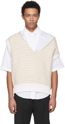 Raf Simons White Cropped Knit Vest