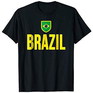 Brazil T-shirt Brazilian Flag Soccer Football Fan Jersey