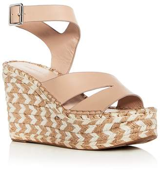 Sigerson Morrison Arien Leather Platform Wedge Sandals