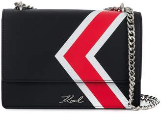 Karl Lagerfeld K/stripes shoulder bag