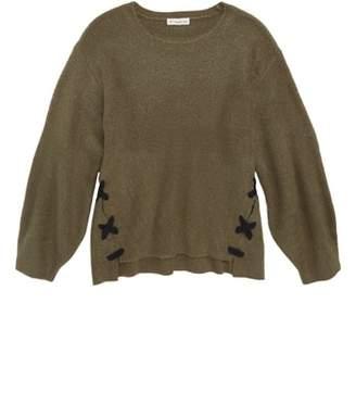 Tucker + Tate Lace-Up Tunic Sweater