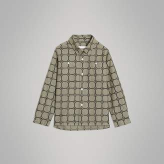 Burberry Flower Print Cotton Shirt