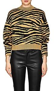Proenza Schouler Women's Tiger-Pattern Rib-Knit Sweater - Black, Gold