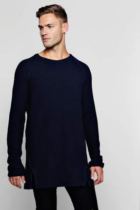 boohoo Textured Knitted Raglan Jumper