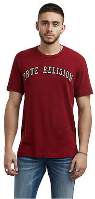 True Religion MENS VARSITY EMBROIDERED LOGO TEE