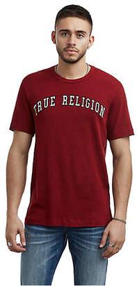 True Religion MENS VARSITY EMBROIDERED LOGO TEE
