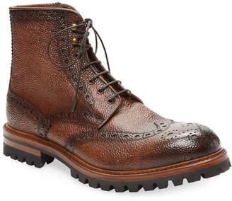 Antonio Maurizi Brogue Leather Boot