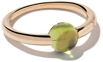 Pomellato 18kt rose & white gold M'ama non m'ama peridot ring