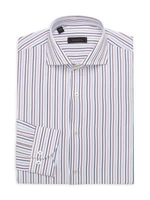 Saks Fifth Avenue MODERN Vertical Stripe Dress Shirt