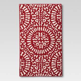 Threshold Red Medallion Kitchen Rug