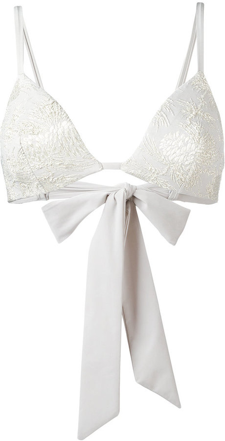 Carine GilsonCarine Gilson jacquard flower bikini top