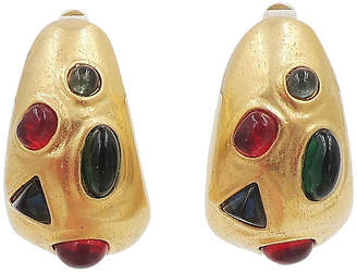 One Kings Lane Vintage Les Bernard Cabochon Earrings - Carrie's Couture