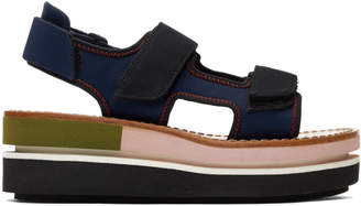 Marni Pink Platform Wedge Sandals