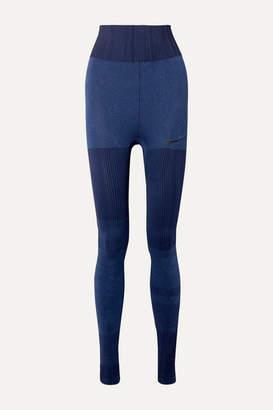 Nike City Ready Dri-fit Jacquard-knit Leggings - Blue