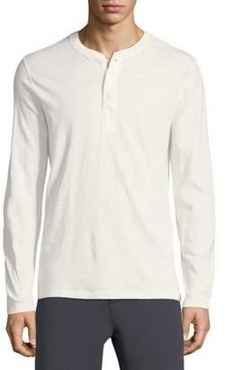 Vince Cotton/Linen Military Henley Shirt
