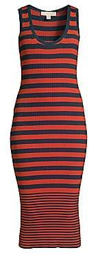 MICHAEL Michael Kors Women's Striped Sleeveless Tank Dress