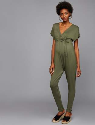Ingrid & Isabel Pea Collection Cross Front Maternity Jumpsuit