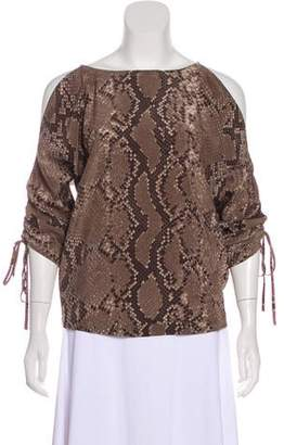 MICHAEL Michael Kors Silk Cold-Shoulder Top